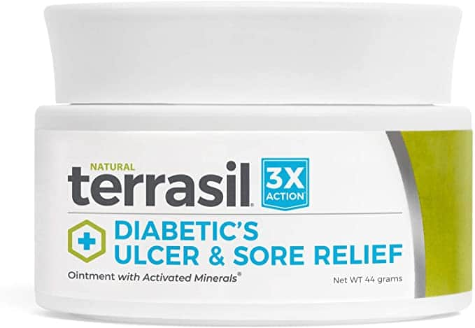 Terrasil diabetic wound healing ointment for ulcers