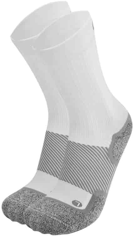 Orthosleeve socks for diabetes crew white