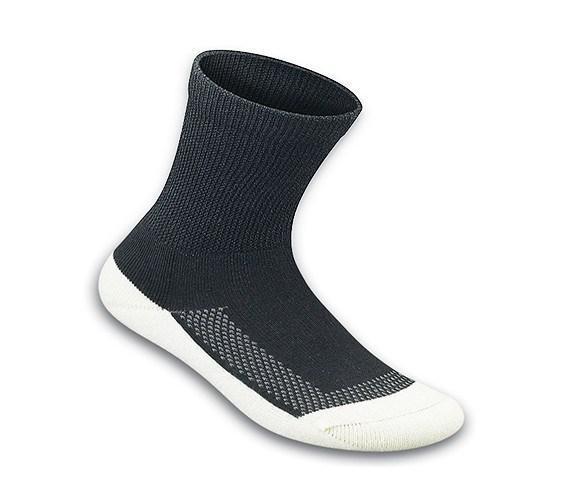 Apex Padded sole diabetic socks black