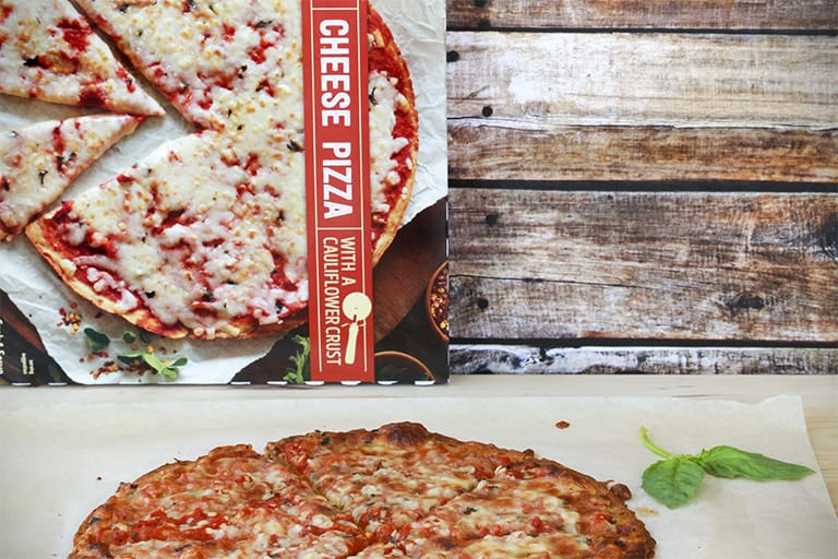 Trader Joe's Cauliflower cheesy pizza
