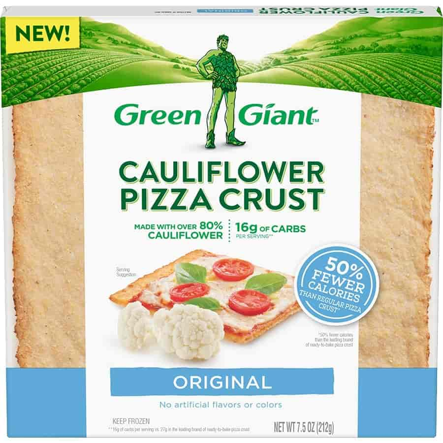 green giant cauliflower crusted pizza
