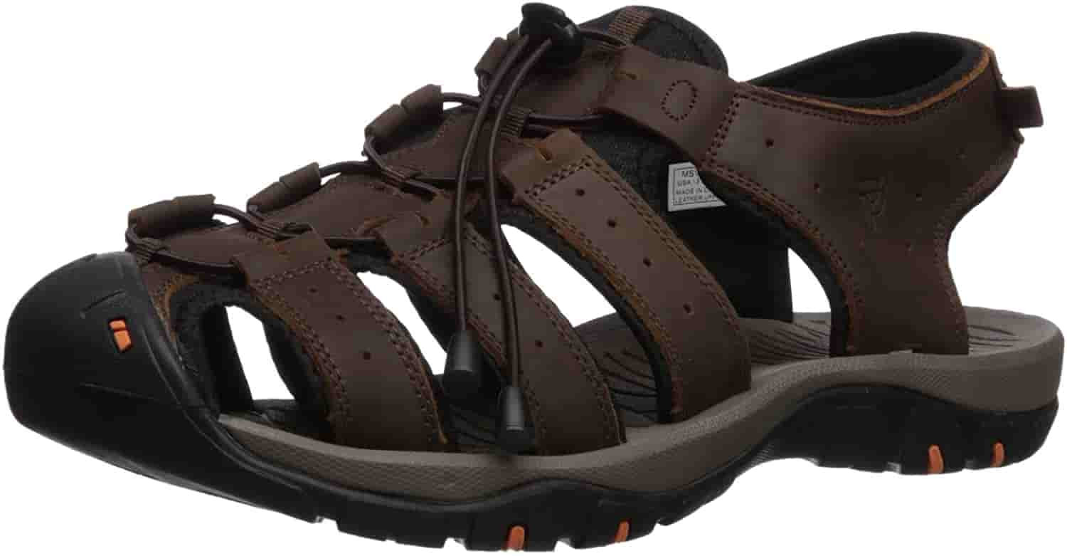 Propét Mens Extra wide sandals for diabetes and neuropathy