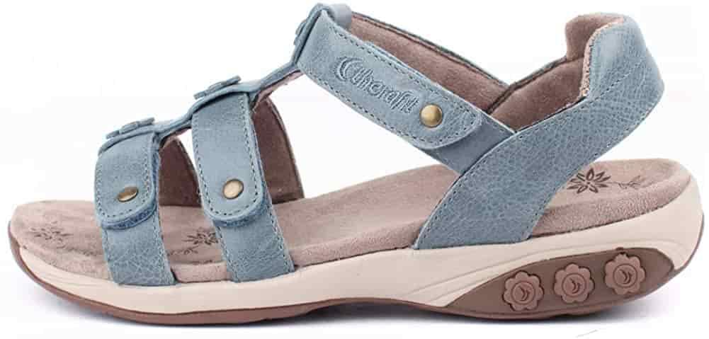 Therafit orthopaedic sandals for diabetic women foot pain