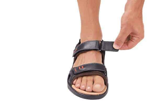 Mens sandals diabetes neuropathy orthotic footwear orthofeet