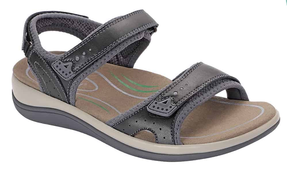 Orthofeet brown sandals for diabetes and neuropathy women