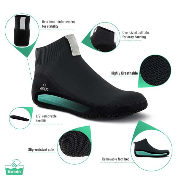 Apex slippers for diabetic and neuropathy