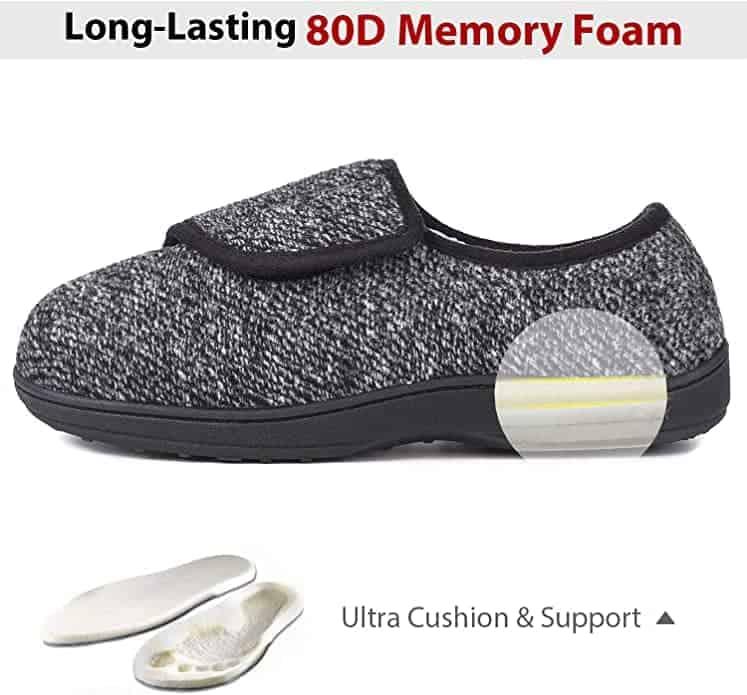LongBay Memory foam slippers for diabetic men