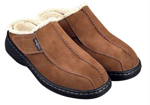 Orthofeet Ashville slippers for men with diabetes and neuropathy