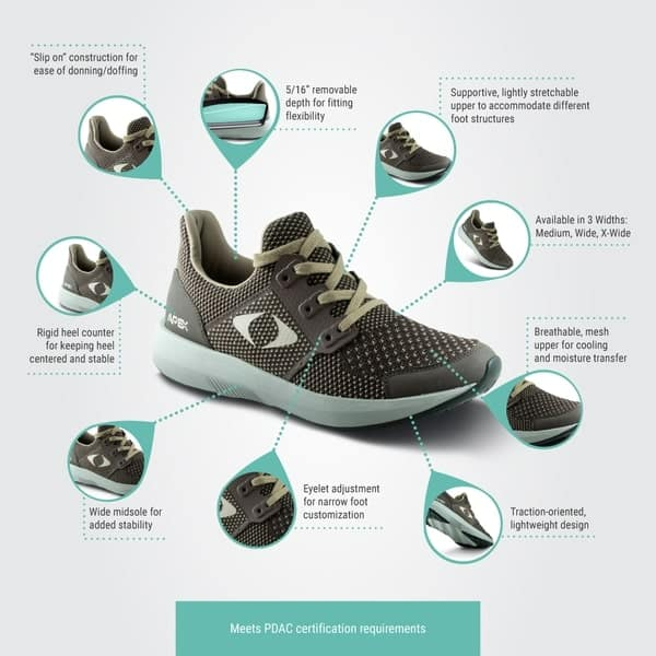 Apex performance diabetic sneakers-min