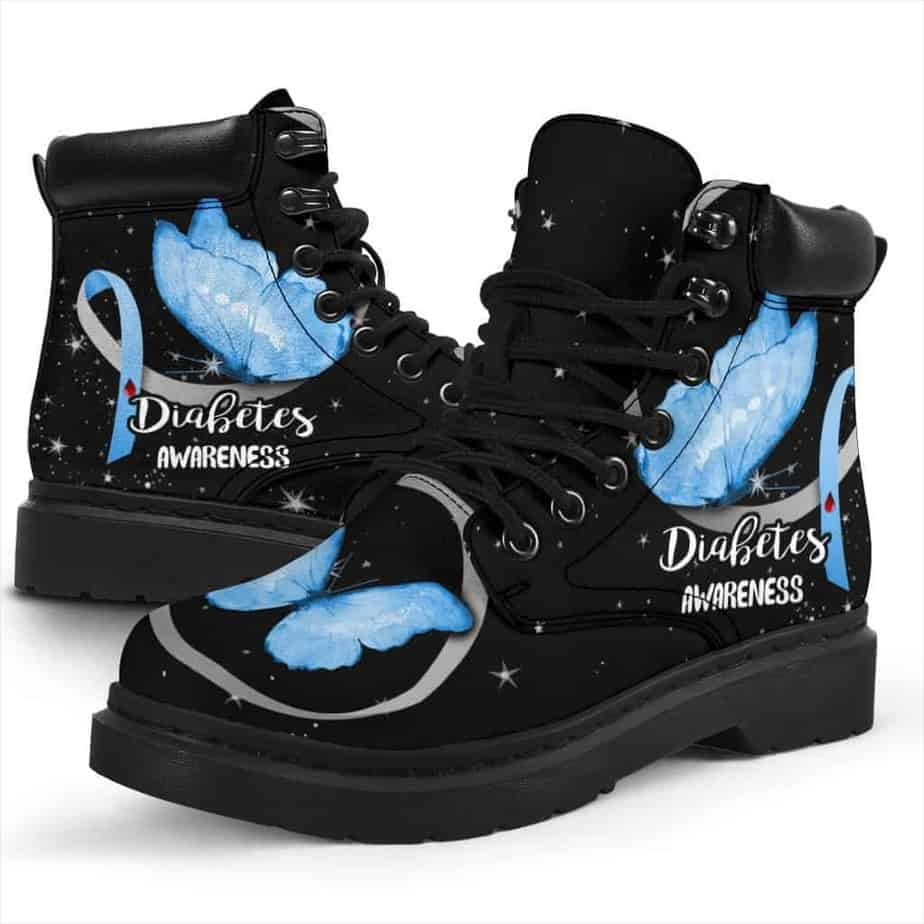 Diabetes Awareness boots