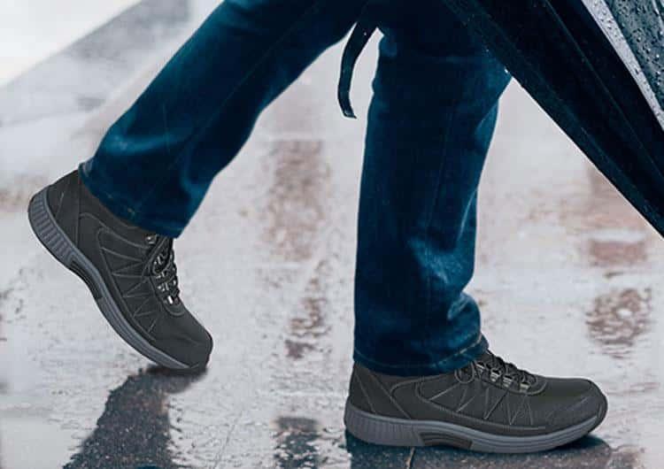 Orthofeet Hunter Diabetic Walking Shoes black waterproof