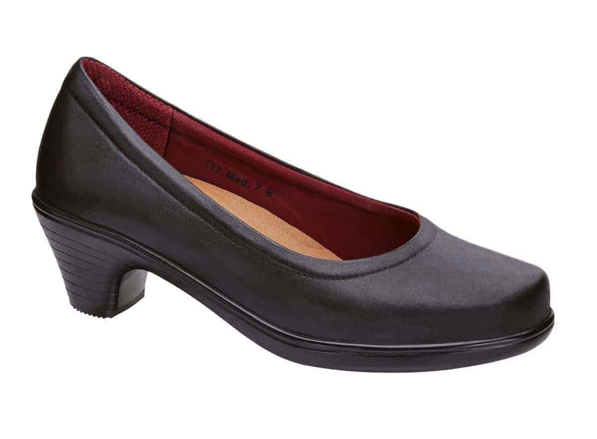 Orthofeet Lilly black heels womens orthopedic dress shoes