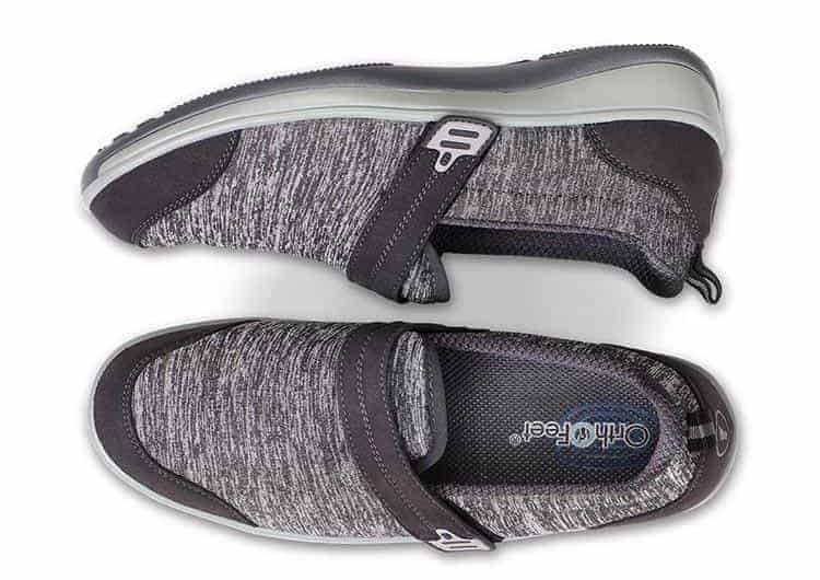 Orthofeet Quincy stretch slip-ons for neuropathy grey
