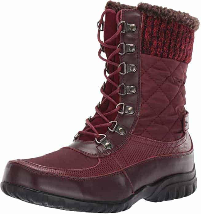 Propet delanay frost snow boots red