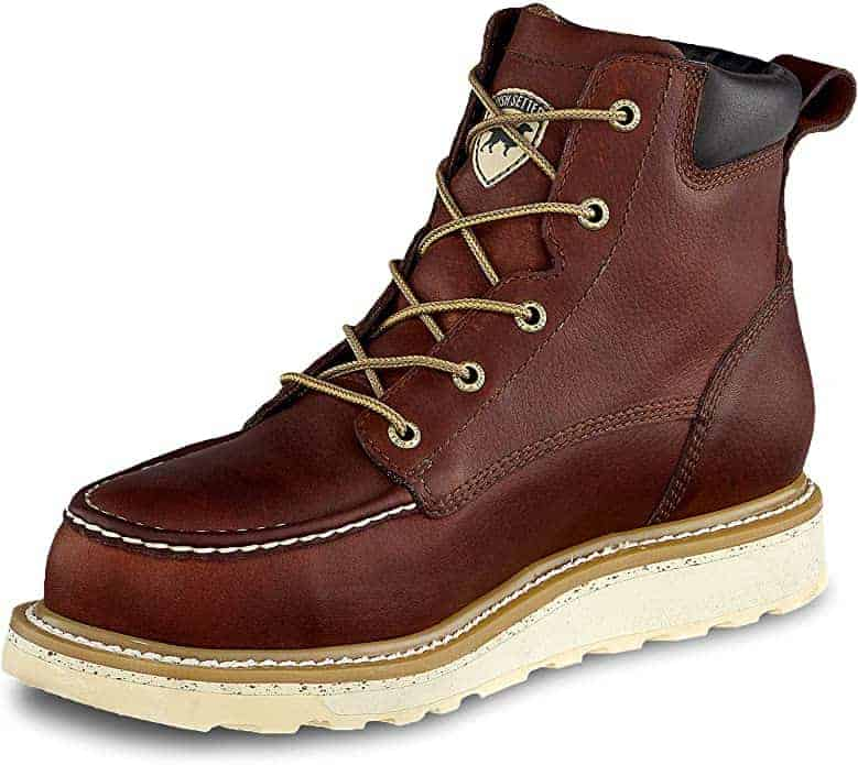 Red wing irish setters diabetic work boots wedge sole