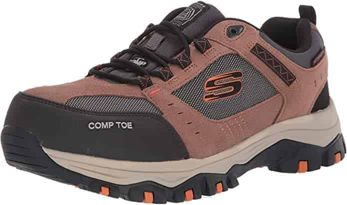 Skechers Greetah construction boots for diabetics