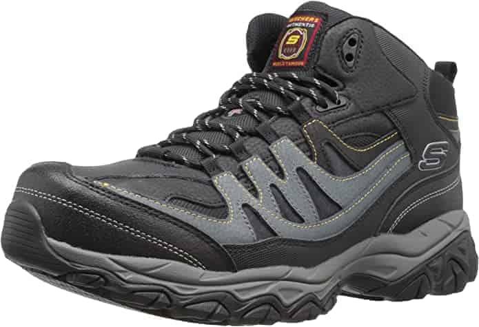 Skechers Holdredge work boots comfort diabetes neuropathy