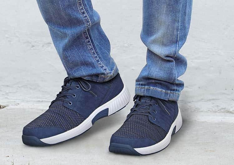 Tacoma stretch Knit Orthofeet shoes for neuropathy Blue