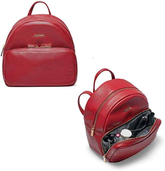 Myabetic Brandy Diabetes Backpack Leather Red