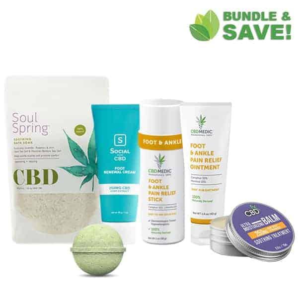 CBD Foot care bundle creams & soak for neuropathy