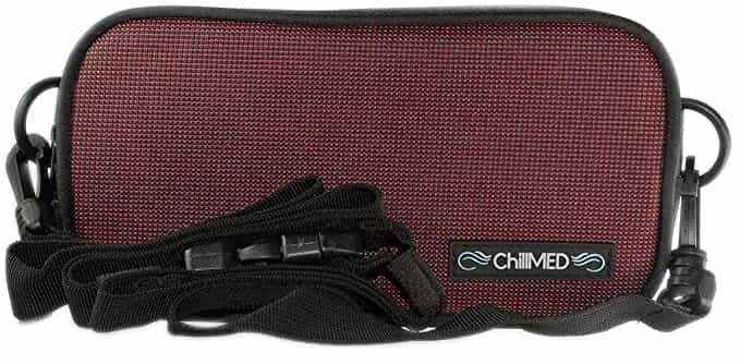 Chillmed diabetic belt bag red-min