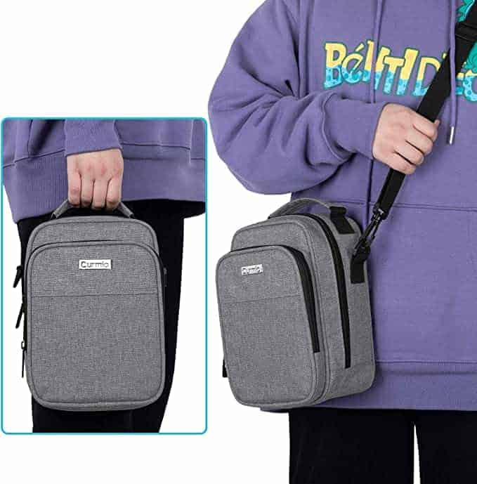 Curmio diabetes travel bag with insulated compartment