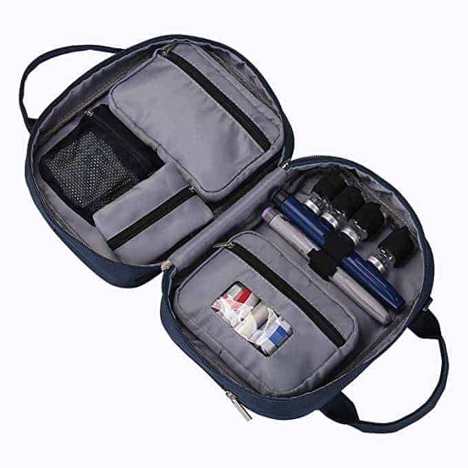 DisonCare Diabetic Travel Bag with Medical Tag