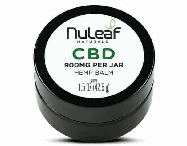 NuLeaf naturals cbd full spectrum balm for nerve pain