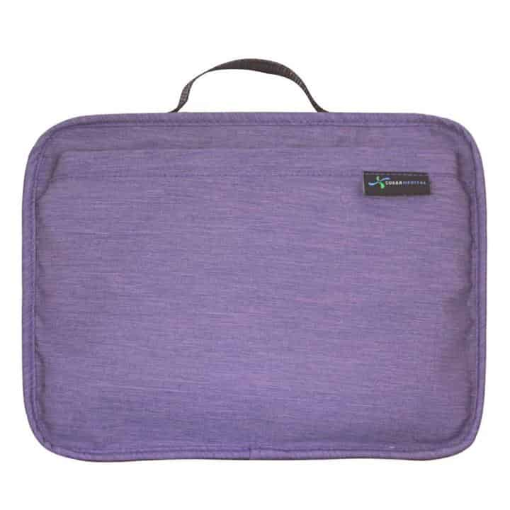 Diabetes Travel Organiser bag Sugar Medical Purple