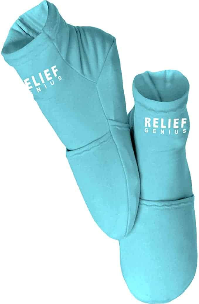 Relief Genius cold therapy socks blue