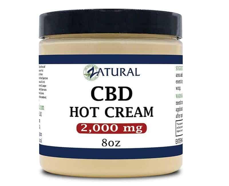ZAtural CBD hot cream pain relief neuropathy