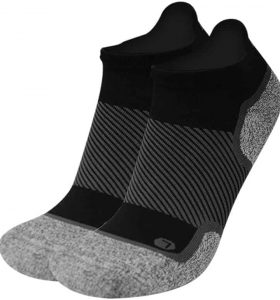 Orthosleeve socks for diabetes no-show black