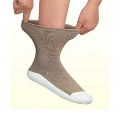 Apex Padded sole diabetic socks brown
